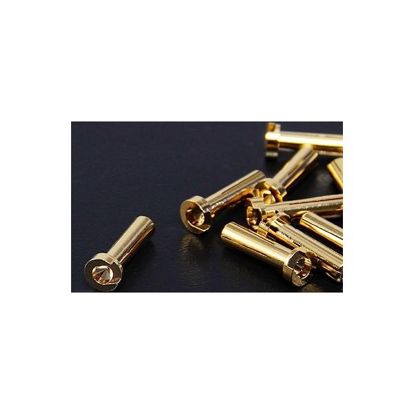 4mm oro conector perfil bajo