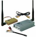 1.2/1.3GHz 1500mW de largo alcance del transmisor y receptor de AV