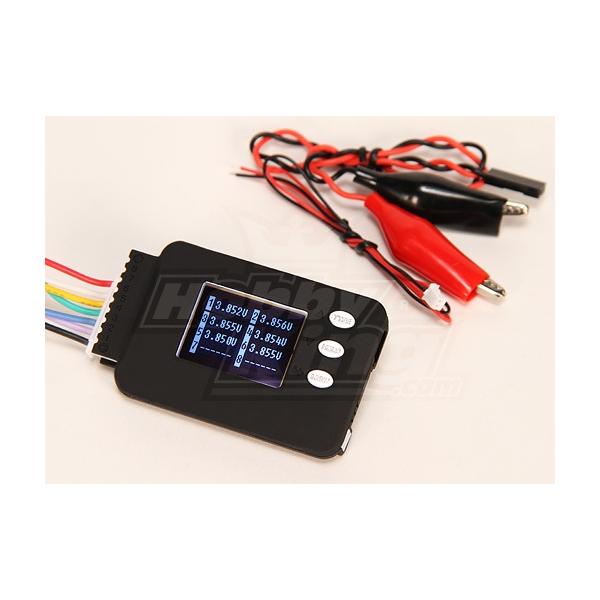 Cell-Log 8M Monitor de la célula de tensión 2-8S Lipo